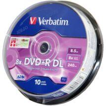 Verbatim DVD+R 8x DL megnövelt kapacitású lemez, cake (10)