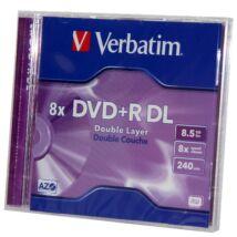Verbatim DVD+R 8x DL megnövelt kapacitású lemez, Normál Tokban