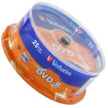 Verbatim DVD-R 16x lemez, cake (25)