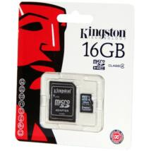 16GB Micro SDHC Kingston - class 4+ adapter