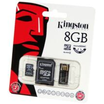 8GB Mobility Kit Kingston (microSD+adapter+olvaso) Class 4