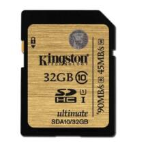 32GB SDHC memóriakártya Kingston Ultimate UHS-I Class 10