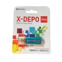PLATINET PENDRIVE USB 2.0 X-DEPO 32GB BLUE (42967)