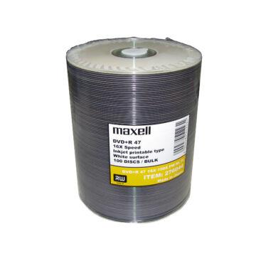 Maxell DVD+R 16x Nyomtatható Taiyo Yuden (Made in Japan) lemez, Shrink (100)