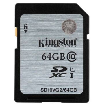 64 GB SECURE DIGITAL SDXC UHS-I KINGSTON - CLASS 10 45MB/s
