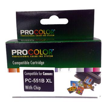 Procolor Canon PC- 551 B XL CHIP fekete utángyátott tintapatron