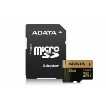 ADATA SDHX karta 32GB UHS-I U3 (95/90MB/s) + adapter