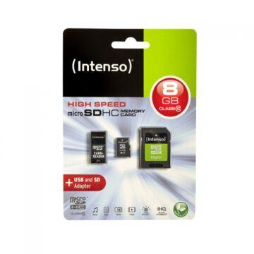 INTENSO MICRO SDHC 8GB CLASS 10+  MOBILITY KIT