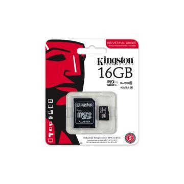 16GB MICROSDHC KINGSTON UHS-I INDUSTRIAL TEMP + SD ADAPTER