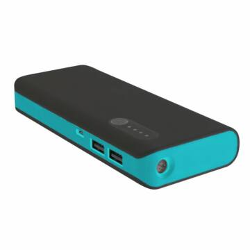 PLATINET POWER BANK13000mAh + microUSB cable + torch BLACK/BLUE [42896]